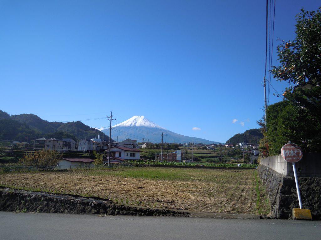 山梨県南都留郡西桂町 商工会青年部 西桂町からの富士山